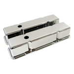 Aluminum Valve Covers SB Chevy 283-400 Tall Smooth