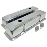 Aluminum Valve Covers Hi-Tech Recessed Smooth SB Chevy 283-400 Tall