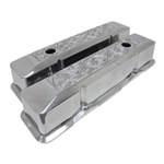 Aluminum Valve Covers Hi-Tech Recessed Flame SB Chevy 283-400 Tall