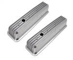 Aluminum Valve Covers Nostalic SB Chevy 1987-1997 Center Bolt Finned Tall