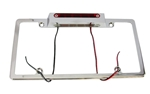 Chrome Licnese Plate Frame LED with 3rd Brake Light