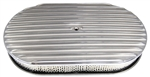 "Aluminum Oval Air Cleaner 15"" Finned Retro Look"