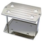 Polished Aluminum Battery Tray Group 35 RED TOP Size Optima Ball Milled
