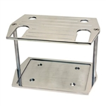 Polished Aluminum Battery Tray Group 75 / 35 Size Optima Ball Milled