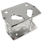 Polished Aluminum Battery Tray Group 34 / 78 Size Optima Smooth