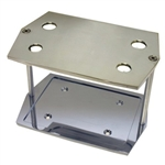 Polished Aluminum Battery Tray Group 35 RED TOP Size Optima Smooth