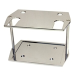 Polished Aluminum Battery Tray Group 75 / 35 Size Optima Smooth