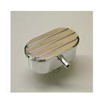 Polished Aluminum Valve Cover Breather PCV Finned Top Nostalgic