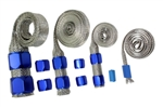 Braided Hose Sleeve Kit Blue Radiator Heater Hose Fuel Line