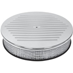 "Aluminum Air Cleaner 14"" Round Ball Milled Hi-Tech Look"