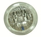 "Tri-Bar Headlight W/Turn Signal Bulb 7"" Clear"