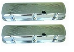 Chrome Valve Covers Tall BB Chevy Flames