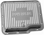 Chrome Steel Transmission Pan GM Powerglide Stock Depth