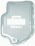 Chrome Steel Transmission Pan GM Turbo 400 Extra Deep