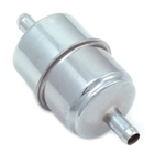 "Chrome Steel Fuel Filter 5/16"" Inlet / Outlet"