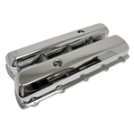 1964-80 Oldsmobile 330-350-400-425-455 V8 Tall Chrome Steel Valve Covers