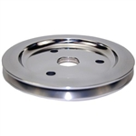 Lower Aluminum Pulley Single Groove SB Chevy Short Water Pump Polished Finish