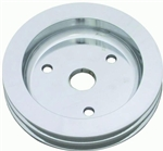 Lower Aluminum Pulley Double Groove SB Chevy Short Water Pump Satin Finish