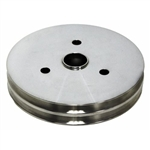 Lower Aluminum Pulley Double Groove SB Chevy Short Water Pump Polished Finish