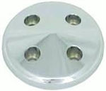 Upper Aluminum Pulley Nose Piece SB Chevy Short Water Pump Satin Finish