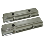 Chrome Valve Covers SB Chevy 283-400 OEM Style