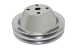 Chrome Double Groove Pulley Long Water Pump SB Chevy 283-400