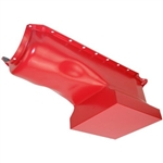 BB Chevy Painted Orange Steel Race Oil Pan 396-454 1965-1990