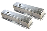 Chrome Valve Covers Tall SB Chevy 350 Logo