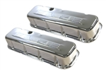 Chrome Valve Covers Tall BB Chevy 454 Logo