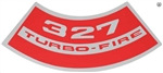 Air Cleaner Decal SB Chevy 327 Turbo Fire