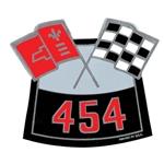 Air Cleaner Decal BB Chevy 454 Flags