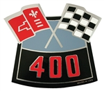 Air Cleaner Decal BB Chevy 400 Cross Flags