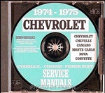74-75 Corvette Shop Repair Manual CD