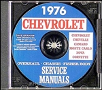 76 Corvette Shop Repair Manual CD