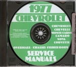 77 Corvette Shop Repair Manual CD