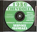 80 Corvette Shop Repair Manual CD