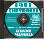 81 Corvette Shop Repair Manual CD