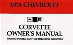 74 Corvette Factory Owner's ManuaL