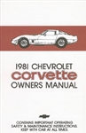 81 Corvette Factory Owner's Manual