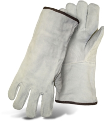 GRAY LEATHER WELDER FULLY LINED 1JL0925 Boss