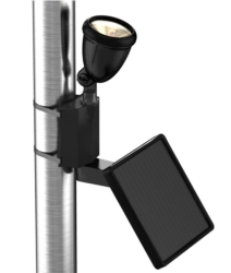 Landscape Lighting: Black Directionally Focused Solar LED Flag Light