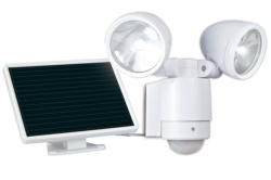 LED Flood Lights: Maxsa 44418 Bright Dual-Head Solar Security Light White
