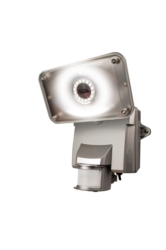 LED Flood Lights: Silver Motion-Activated Solar LED Security Floodlight