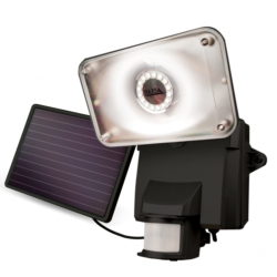 LED Flood Lights: Motion Activated Solar LED Security Flood Light (Black)