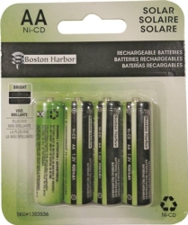 Boston Harbor BT-NC-AA-900-D4 Replacement Ni-Cd Solar Battery