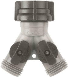 Gilmour 17 Hose Wye With Dual Shut-Off Valve