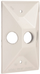 Hubbell 5189-6 3-Hole Cluster Lampholder Cover