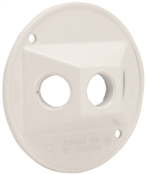 Hubbell 5197-6 3-Hole Cluster Lampholder Cover