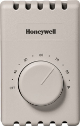 Honeywell CT410B 4-Wire Manual Thermostat
