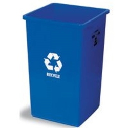 Continental Swingline Square Recycling Trash Receptacle